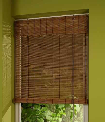 Bambusrollo Aus Holz Farbe Natur Oder Kirschbaum Jellinghaus
