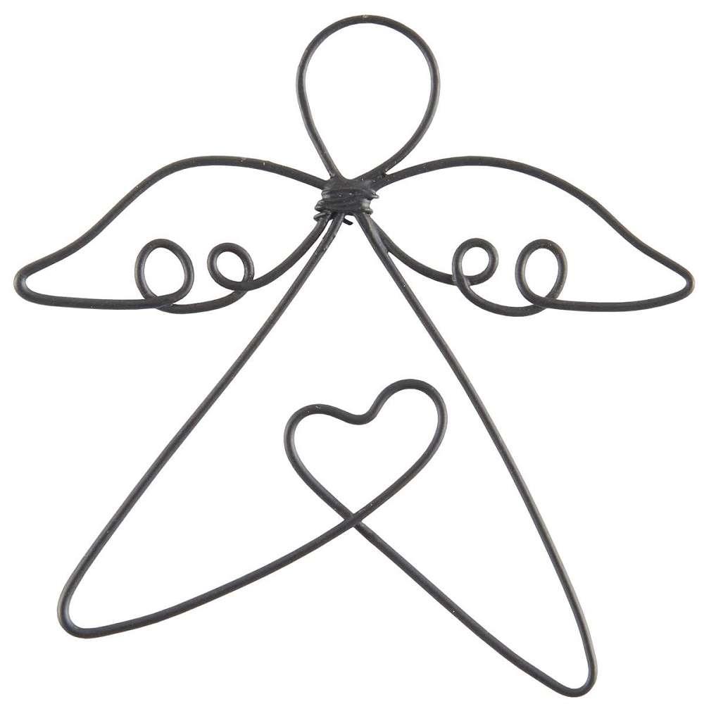 IB Laursen Engel Luna aus draht mit Aufhänger - Deko oder Glücksbringer