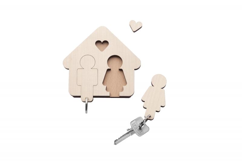 schl sselbrett home sweet home mann frau design im dorf. Black Bedroom Furniture Sets. Home Design Ideas